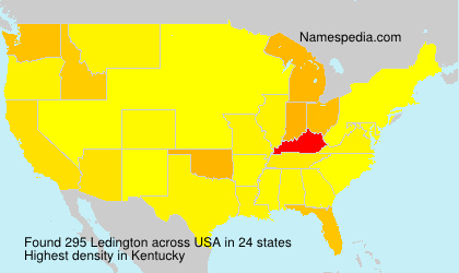 Surname Ledington in USA
