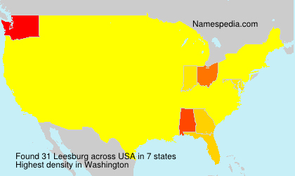 Surname Leesburg in USA