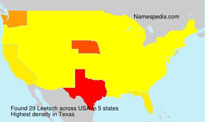 Surname Leetsch in USA