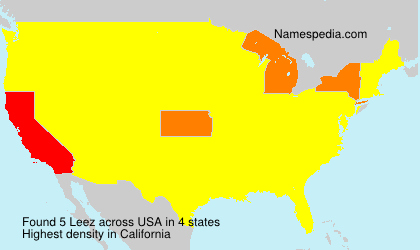 Surname Leez in USA
