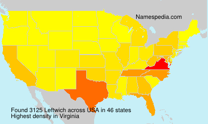 Surname Leftwich in USA