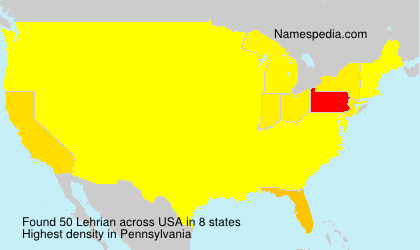 Surname Lehrian in USA