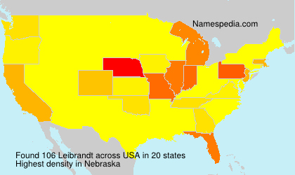 Surname Leibrandt in USA