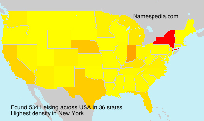 Surname Leising in USA