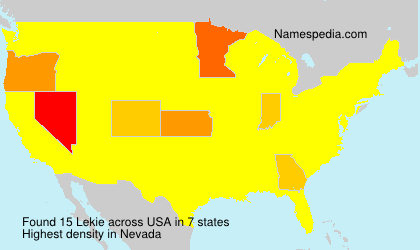 Surname Lekie in USA