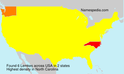 Surname Lemkes in USA