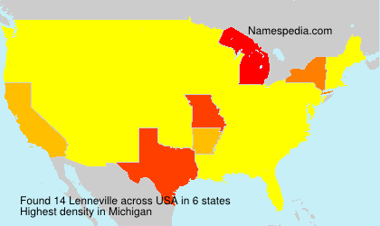 Surname Lenneville in USA
