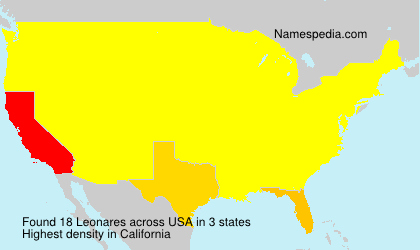Surname Leonares in USA