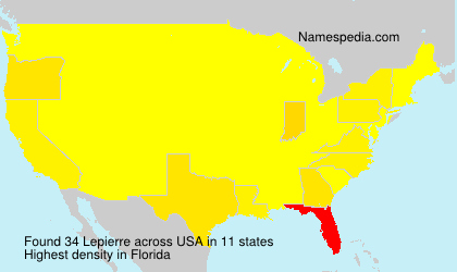 Surname Lepierre in USA