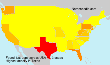Surname Leps in USA