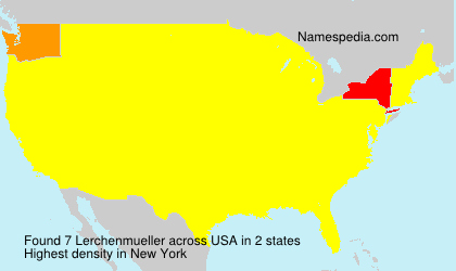 Surname Lerchenmueller in USA