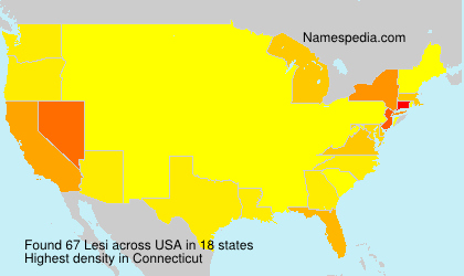 Surname Lesi in USA