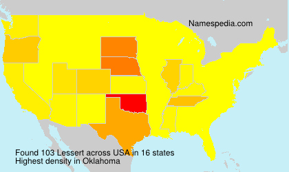 Surname Lessert in USA