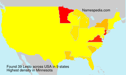 Surname Lesto in USA