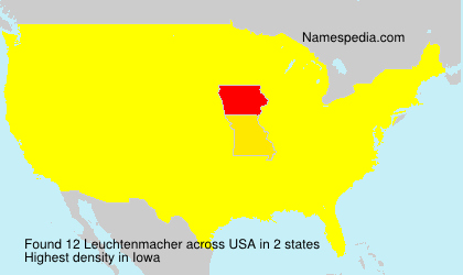 Surname Leuchtenmacher in USA