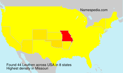 Surname Leuthen in USA