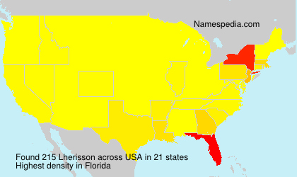 Surname Lherisson in USA