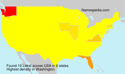 Surname Lidral in USA