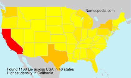 Surname Lie in USA