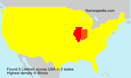 Surname Liebheit in USA