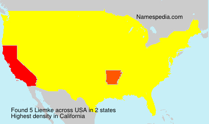 Surname Liemke in USA