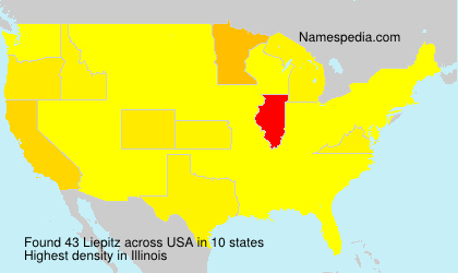 Surname Liepitz in USA