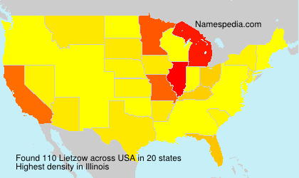 Surname Lietzow in USA
