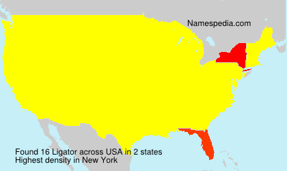 Surname Ligator in USA