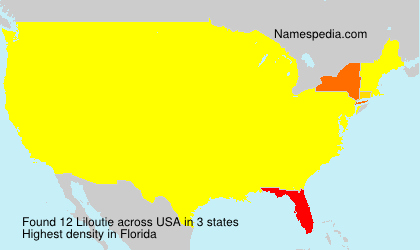 Surname Liloutie in USA