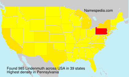 Surname Lindenmuth in USA