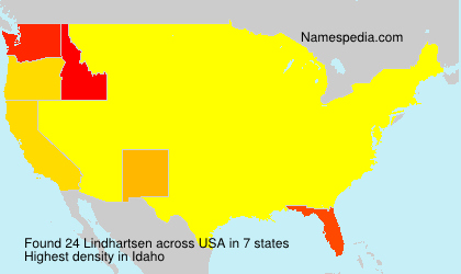 Surname Lindhartsen in USA