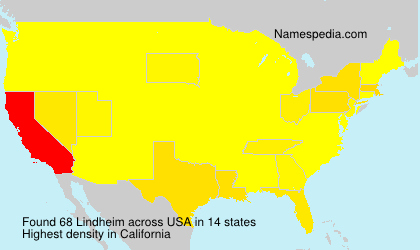 Surname Lindheim in USA