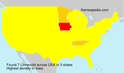 Surname Linnevold in USA