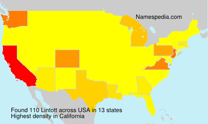 Surname Lintott in USA