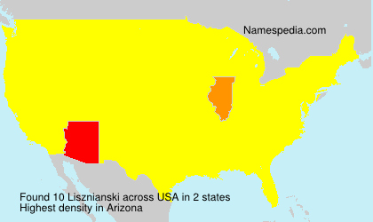 Surname Lisznianski in USA