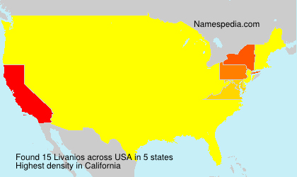 Surname Livanios in USA