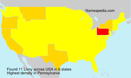 Surname Livny in USA