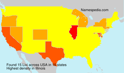 Surname Lixi in USA