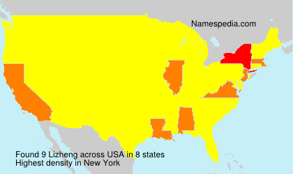 Surname Lizheng in USA