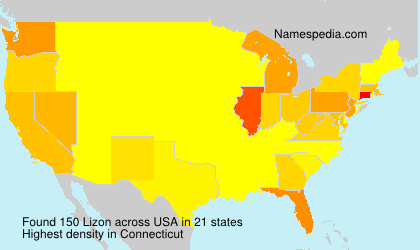 Surname Lizon in USA