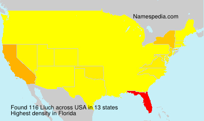 Surname Lluch in USA