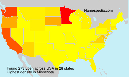 Surname Loen in USA