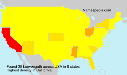 Surname Loevenguth in USA