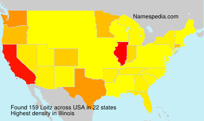 Surname Loitz in USA