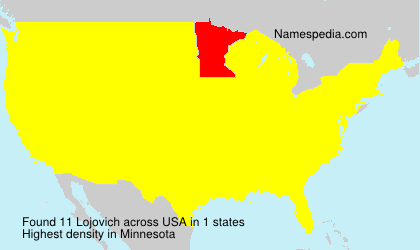 Surname Lojovich in USA