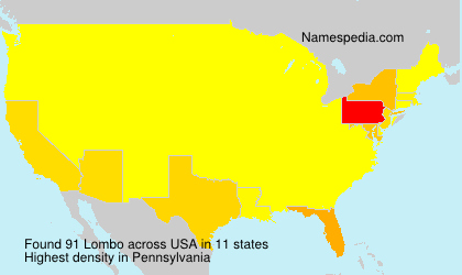 Surname Lombo in USA