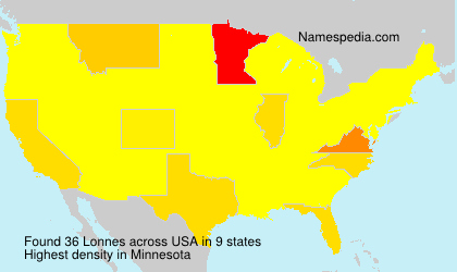 Surname Lonnes in USA