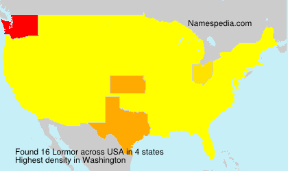 Surname Lormor in USA