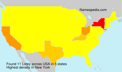 Surname Lotey in USA