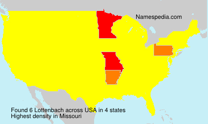 Surname Lottenbach in USA